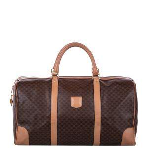 Celine Brown/Beige Macadam Canvas Travel Bag