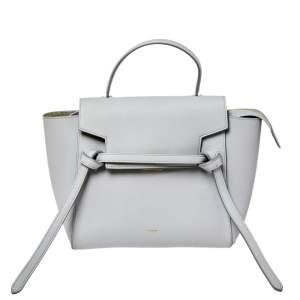 حقيبة سيلين نانو جلد رصاصي بيد علوية