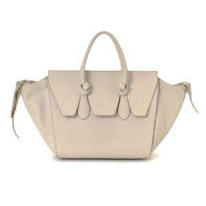Celine Ivory Leather Tie Tote Bag