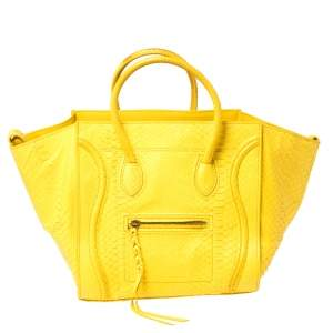 Celine Yellow Python Medium Phantom Luggage Tote