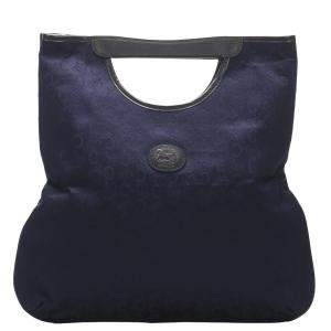 Celine Blue Canvas C Macadam Tote Bag