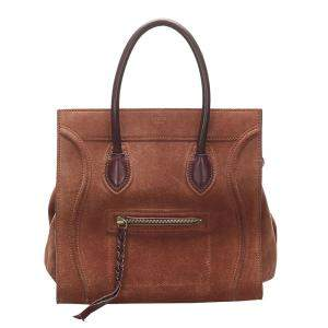 Celine Brown Suede Leather Phantom Bag