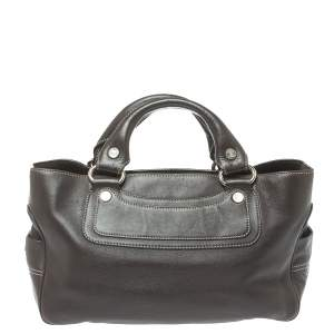Celine Dark Brown Leather Boogie Tote
