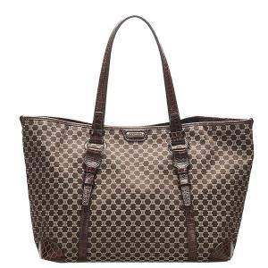 Celine Brown Macadam Canvas Tote