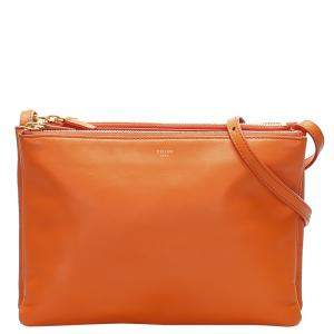 Celine Orange Leather Trio Bag