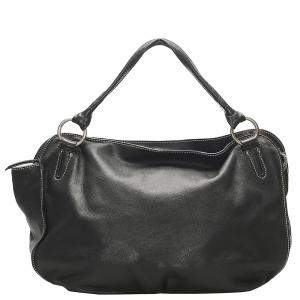 Celine Black Leather Bittersweet Hobo