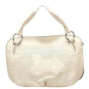 Celine White Leather Bittersweet Hobo