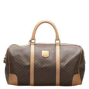 Celine Brown PVC Macadam Travel Bag