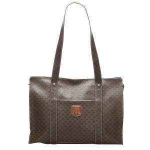 Celine Brown/Dark Brown Macadam Canvas Tote Bag