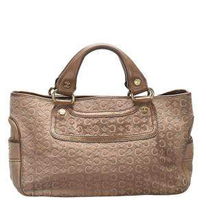 Celine Brown/Beige Suede Leather C Macadam Boogie Bag