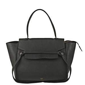 Celine Black Leather Belt Top Handle Bag