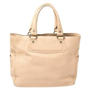 Celine Beige Leather Large Boogie Tote