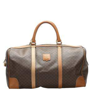 Celine Brown/Light Brown PVC Macadam Duffel Bag