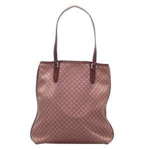 Celine Red Canvas Macadam Tote Bag