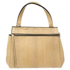 Celine Beige Python Medium Edge Bag