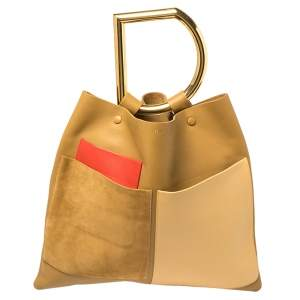 Celine Multicolor Leather And Suede Geometric Bag