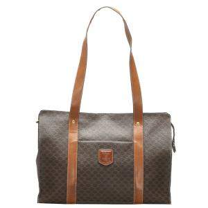 Celine Brown/Dark Brown Macadam Canvas Tote Bag