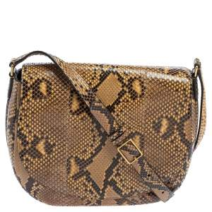 Céline Beige/Black Python Trotteur Shoulder Bag