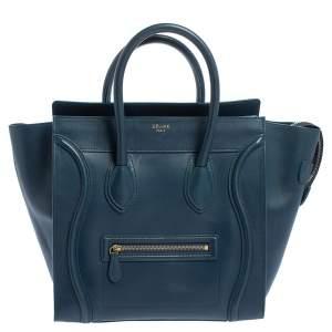 حقيبة يد سيلين لاغيدج صغيرة جلد أزرق
