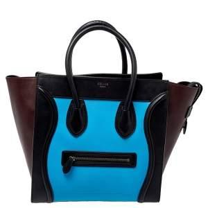 حقيبة يد سيلين لاغيدج صغيرة جلد ثلاثي اللون