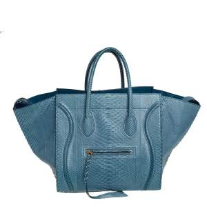 Celine Blue Python Medium Phantom Luggage Tote