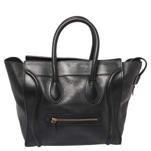 حقيبة يد سيلين لاغيدج ميني جلد أسود