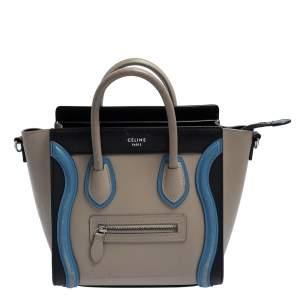 حقيبة يد لاغيدج سيلين نانو جلد ثلاثية اللون
