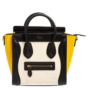 Céline Tri Color Leather Nano Luggage Tote