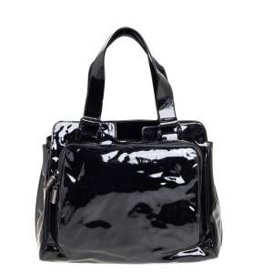 Celine Black Patent Leather Tote