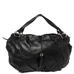 Celine Black Leather Large Bittersweet Hobo