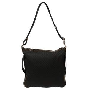Celine Black Macadam Canvas Messenger Bag