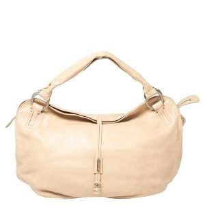 Celine Beige Leather Bittersweet Hobo