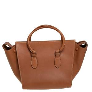 Celine Tan Leather Mini Tie Tote