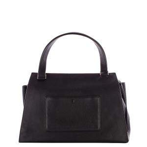 Celine Black Leather Edge Tote Bag