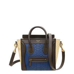 Celine Tricolor Python Leather Nano Luggage Tote Bag