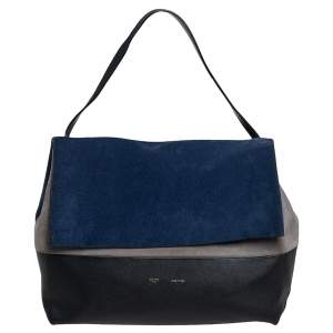 Celine Tri Color Leather and Suede All Soft Shoulder Bag