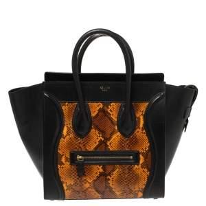 حقيبة يد توتس سيلين لاغيدج صغيرة جلد و جلد ثعبان متعدد الألوان