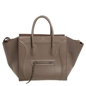 حقيبة يد سيلين فانتوم لاغيدج جلد بيج متوسطة