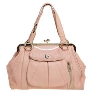 Celine Pale Pink Leather 'Clandestine' Frame Satchel