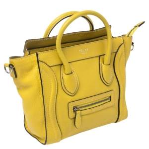 حقيبة يد توتس سيلين نانو لاغيدج جلد صفراء