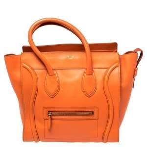 حقيبة يد توتس سيلين لاغيدج جلد برتقالي صغيرة