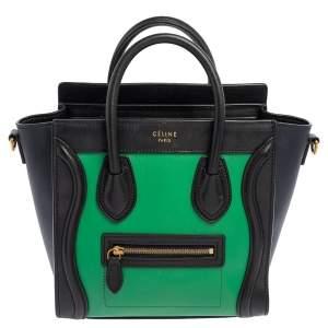 حقيبة يد سيلين نانو لاغدغ جلد ثلاثي اللون سيلين جلد