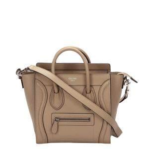 Celine Brown Leather Luggage Mini Satchel Bag