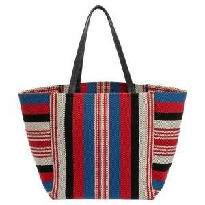 حقيبة يد توتس سيلين فانتوم كاباس كانفاس مغزول مخطط متعددة الألوان