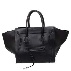 حقيبة يد توتس سيلين لاغيدج فانتوم جلد سوداء متوسطة