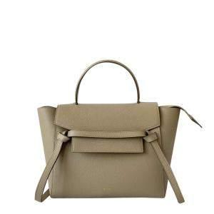 Celine Brown Leather Micro Belt Bag