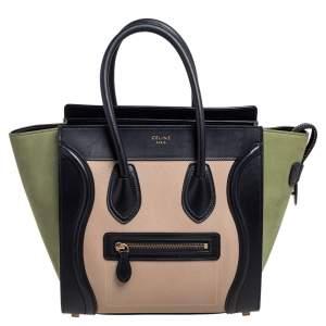 حقيبة يد توتس سيلين ميكرو لاغيدج جلد ونوبوك ثلاثي اللون