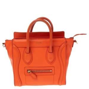 حقيبة يد توتس سيلين نانو لاغيدج جلد برتقالي