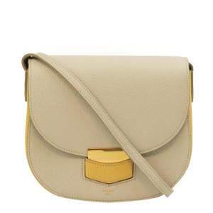 Celine Beige Leather Trotteur Shoulder Bag