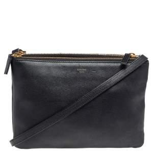 Celine Black Leather Trio Shoulder Bag